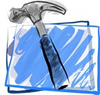 Illustrated version of Xcode's icon